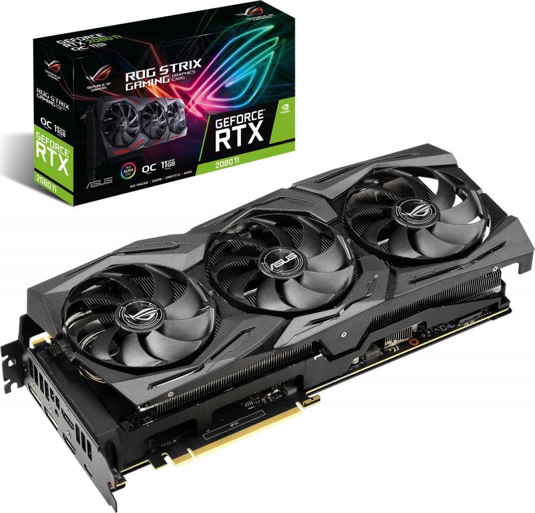 Karta graficzna Asus ROG Strix GeForce RTX 2080Ti Gaming OC 11GB GDDR6 (ROG-STRIX-RTX2080TI-O11G-GAMING) 1