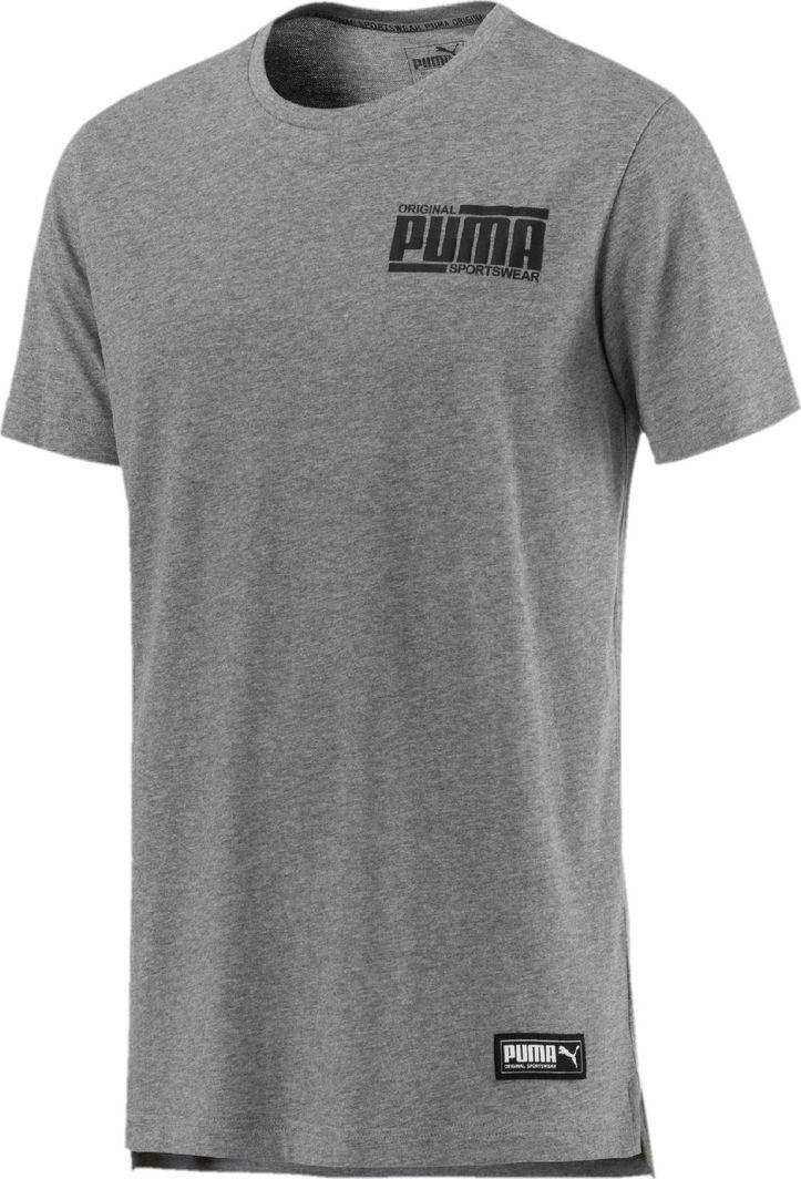 7be5102c53dea Puma Koszulka męska Athletics elevated szaro-czarna r. XL w Sklep-presto.pl
