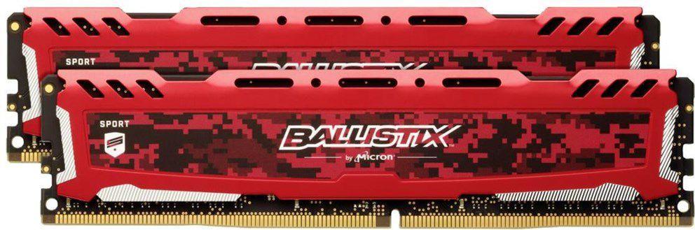Pamięć Ballistix Ballistix Sport LT, DDR4, 16 GB, 2666MHz, CL16 (BLS2K8G4D26BFSEK) 1