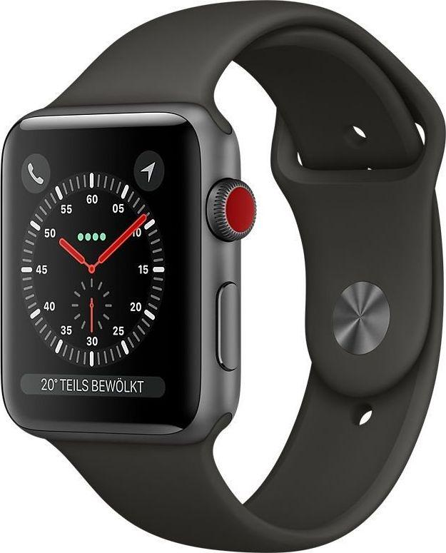 Smartwatch Apple Watch Series 3 Szary  (MTH22ZD/A) 1