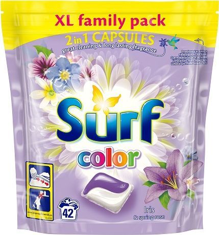 Surf Kapsułki do prania do koloru Iris&Spring Rose 42szt. 1