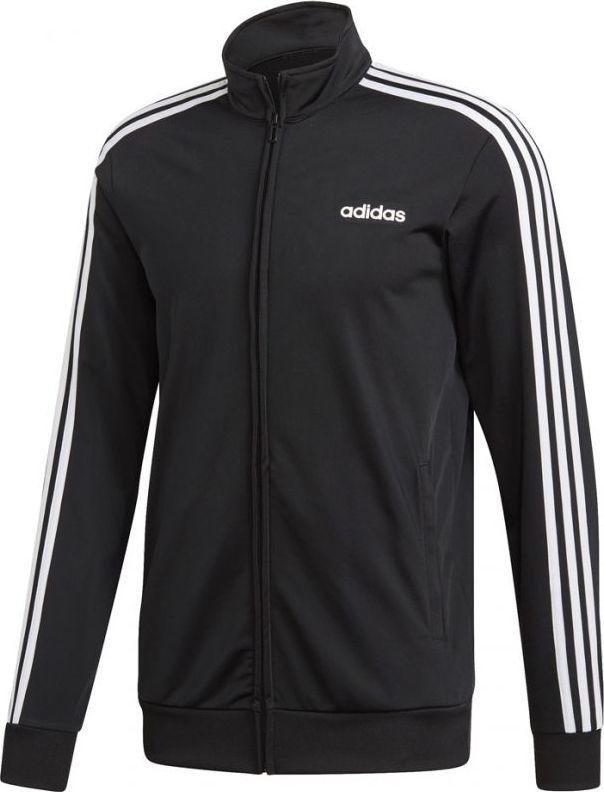 Adidas Bluza męska Essentials 3 Stripes Tricot Tt czarna r. L (DQ3070) ID produktu: 5641115