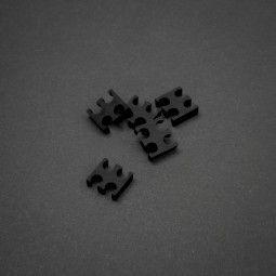 King Mod Services 4-szczelinowy grzebień kablowy 3 mm mały - czarny - zestaw 5 sztuk 1