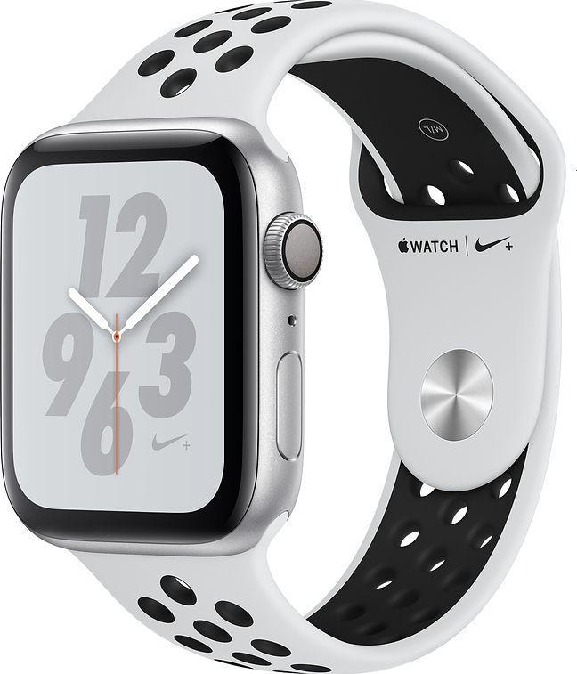 Smartwatch Apple Watch Nike+ 4 GPS 44mm Silver Alu Czarno-biały  (MU6K2WB/A) 1