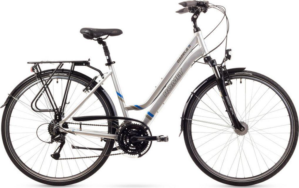 """Romet Rower turystyczny Gazela 3 28"""" srebrny 1"""