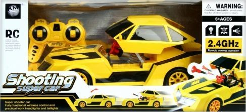 Mega Creative Auto osobowe zdalnie sterowane żółte (417777) 1
