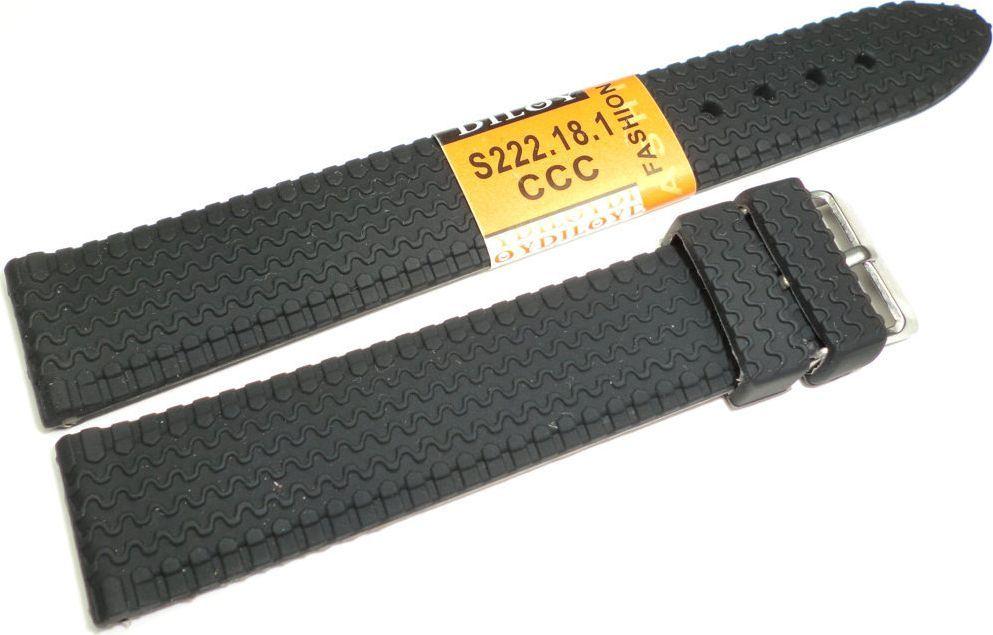 Diloy Silikonowy pasek do zegarka 18 mm Diloy S222.18.1 uniwersalny 1