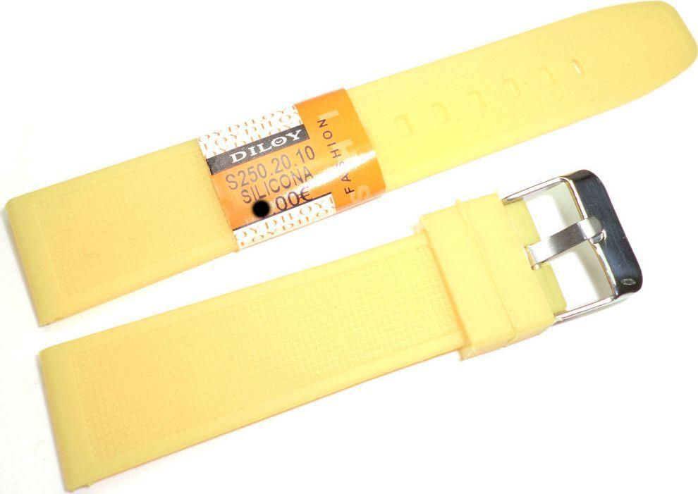 Diloy Silikonowy pasek do zegarka 20 mm Diloy S250.20.10 uniwersalny 1