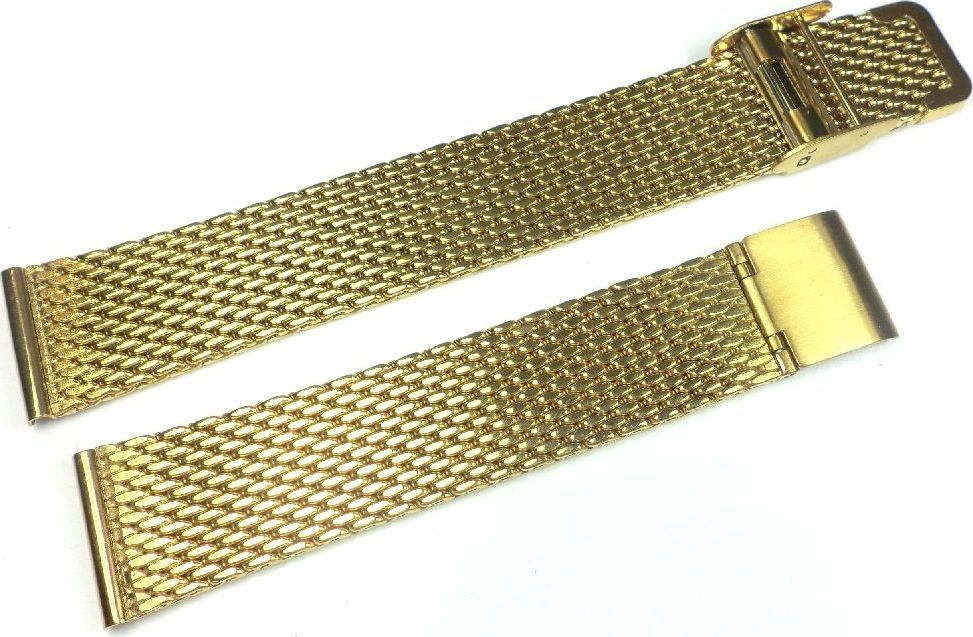 Diloy Bransoleta stalowa do zegarka Diloy MESH10-18-G 18 mm uniwersalny 1