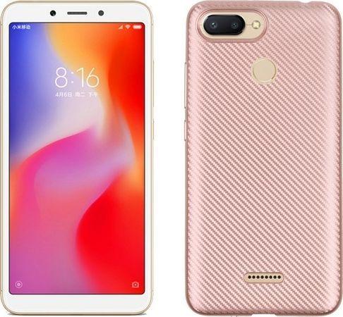 Etui Carbon Fiber Xiaomi Redmi Mi A1 różowo-złoty/rose gold 1