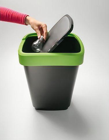 Kosz na śmieci Rotho Swing Twist do segregacji uchylny 10L zielony (1754305519) 1
