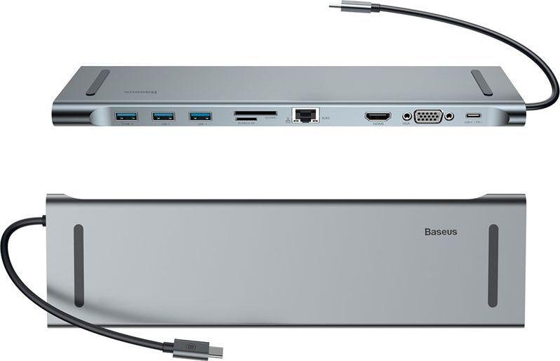 Stacja/replikator Baseus Baseus Enjoyment HUB adapter USB-C replikator HDMI RJ45 SD MacBook uniwersalny 1