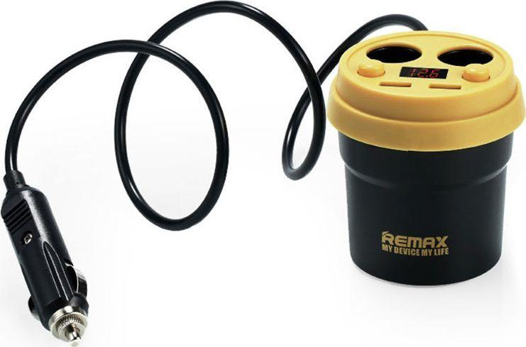 Ładowarka Remax Remax Cup CR-2XP ładowarka samochodowa hub rozdzielacz czarny uniwersalny 1