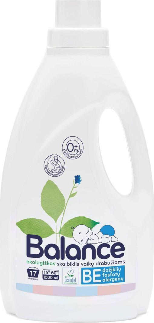 Płyn do płukania Balance BALANCE ekologiškas skystas skalbiklis vaikų drabužiams 1 L 1