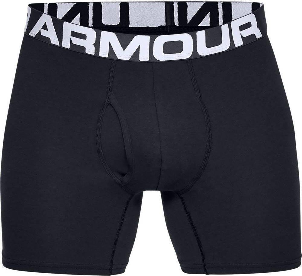 Under Armour Bokserki męskie Charged Cotton 6in 3-Pack czarne r. M (1327426-001) 1