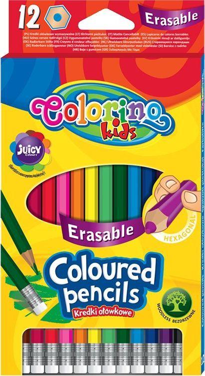 Colorino Spalvoti pieštukai Colorino Kids, trinami, 12 spalvų 1
