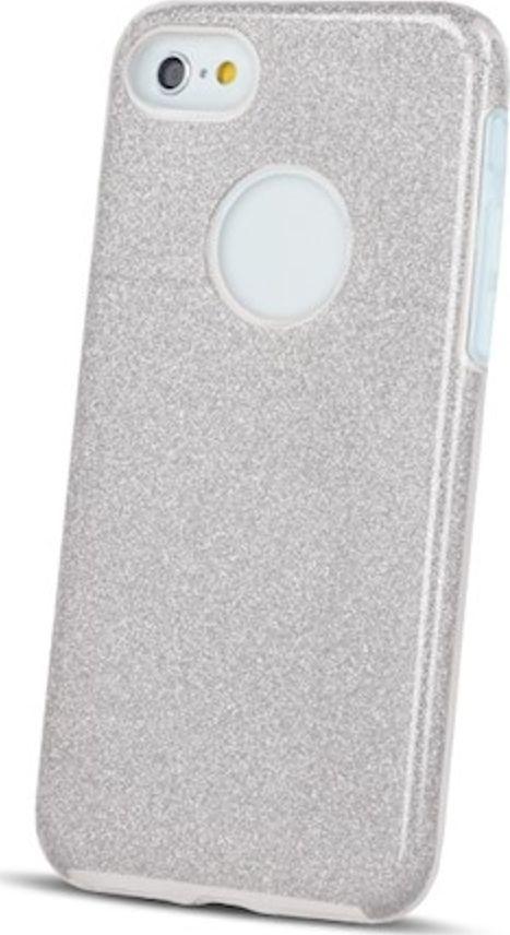 TelForceOne Nakładka Glitter 3in1 do Samsung A7 2018 srebrna 1