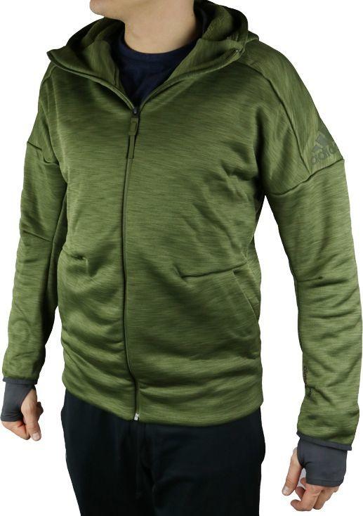 Adidas Bluza męska ZNE FZ Hood Climaheat khaki r. S (S94830 ID produktu: 5673576