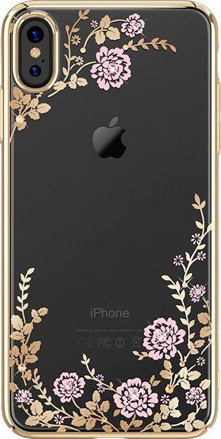 Kavaro Kavaro Flora Series etui ozdobione oryginalnymi kryształami Preciosa iPhone XS Max złoty uniwersalny 1