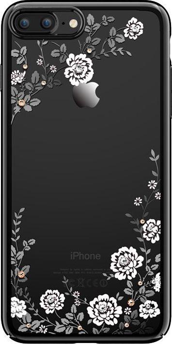 Kavaro Kavaro Flora Series etui ozdobione oryginalnymi kryształami Preciosa iPhone 8 Plus / 7 Plus czarno-biały uniwersalny 1