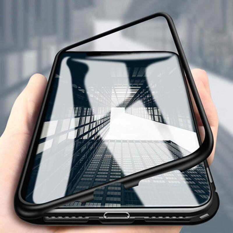 Wozinsky Wozinsky Magnetic Case magnetyczne etui 360 pokrowiec na całą obudowę przód + tył iPhone XS / X czarny uniwersalny 1