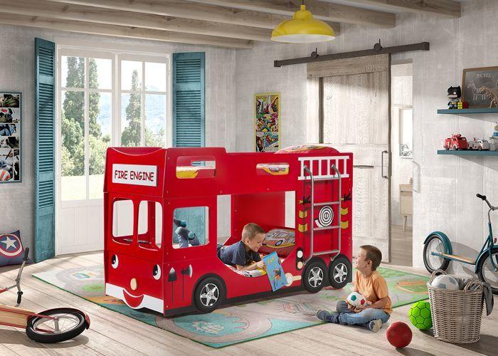 Vipack Łóżko piętrowe - wóz Strażacki - dla dziecka uniw 1