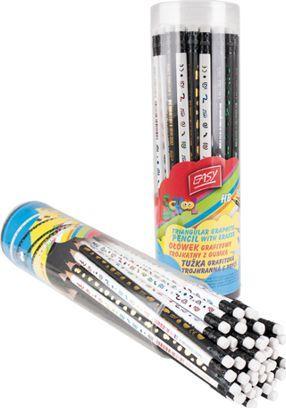 Akson Ołówek z gumką BIAŁY we wzorki 1 szt uniw 1