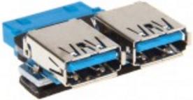 InLine Przejściówka USB 3.0 wewnętrzna na 2x zewnętrzna (33444I) 1