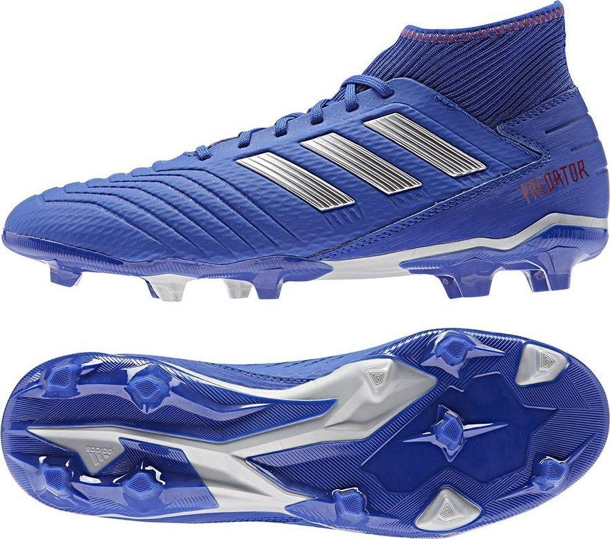 Adidas Buty piłkarskie Predator 19.3 FG BB8112 niebieskie r. 48 ID produktu: 5692850