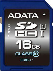 Karta ADATA Premier SDHC 16 GB Class 10 UHS-I/U1  (ASDH16GUICL10R) 1