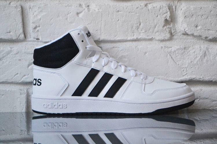 Adidas Buty męskie Hoops 2.0 Mid białe r. 45 13 (BB7208) ID produktu: 5702900