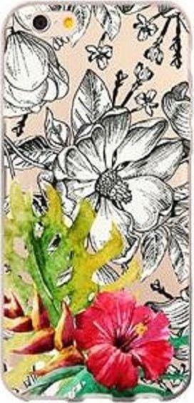 TelForceOne Nakładka Kwiaty Czarno-białe Jac004 Do Huawei P Smart/enjoy 7s Ttt 1