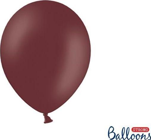 Party Deco Balony Strong, pastelowy kasztanowy, 27 cm, 100 szt uniwersalny 1