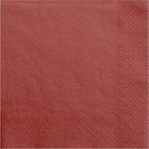 Party Deco Serwetki papierowe, czerwone, 33x33 cm., 20 szt. uniwersalny 1