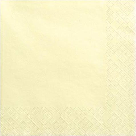 Party Deco Serwetki papierowe, jasnokremowe, 33x33 cm., 20 szt. uniwersalny 1