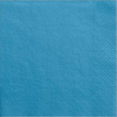 Party Deco Serwetki papierowe, niebieskie, 33x33 cm., 20 szt. uniwersalny 1