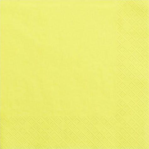 Party Deco Serwetki papierowe, żółte, 33x33 cm., 20 szt. uniwersalny 1