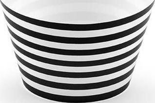 Party Deco Papilotki na muffinki, czarno-białe, 4,8x7,6x5cm, 6 szt. uniwersalny 1