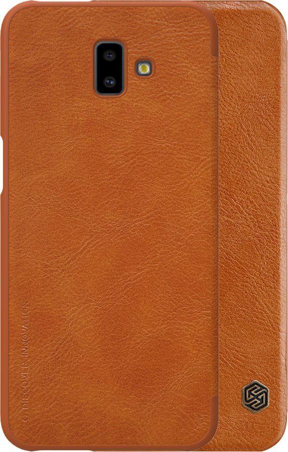 Nillkin Etui Nillkin QIN Samsung Galaxy J6 Plus - Brown uniwersalny 1