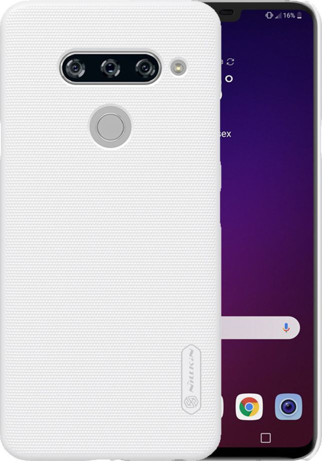 Nillkin Etui Nillkin Frosted Shield LG V40 ThinQ - White uniwersalny 1