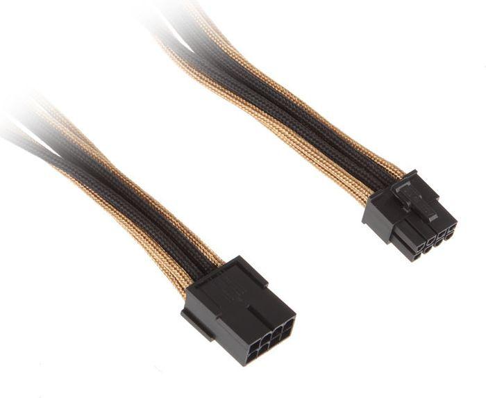 BitFenix Przedłużacz 8-Pin PCIe 45cm - złoto czarny (BFA-MSC-8PEG45AKK-CK) 1