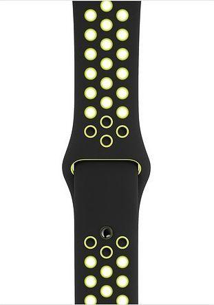 Apple Pasek sportowy Nike w kolorze czarnym/jaskrawym zielonożółtym do koperty 44 mm - S/M i M/L-MTMW2ZM/A 1