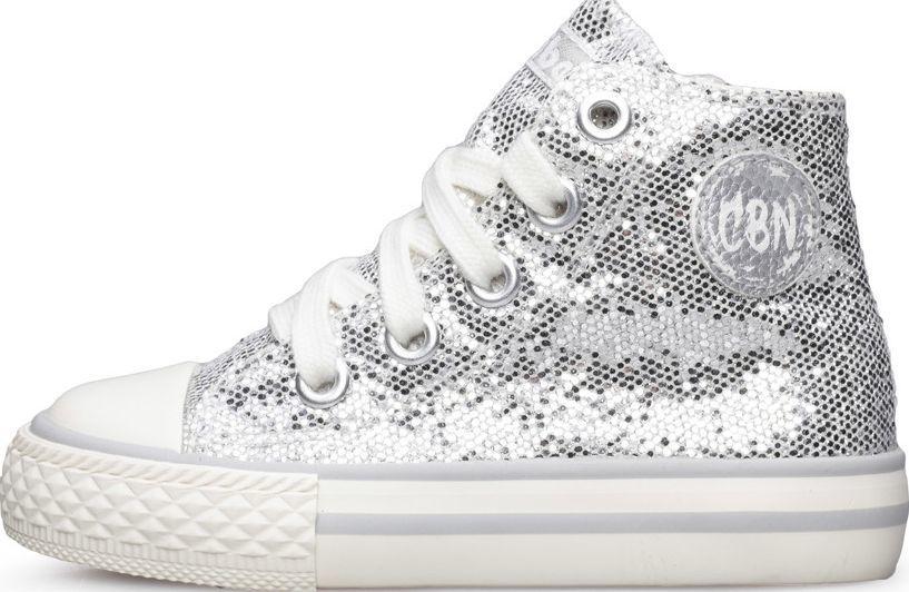 Dziewczęce buty CICIBAN srebrne wysokie trampki Ceny i