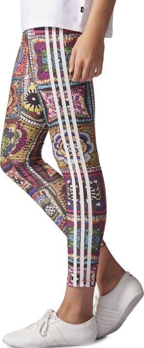 bienes de conveniencia precio baratas original de costura caliente Adidas Legginsy damskie Crochita brązowo-niebieskie r. 38 (AY6845 ...