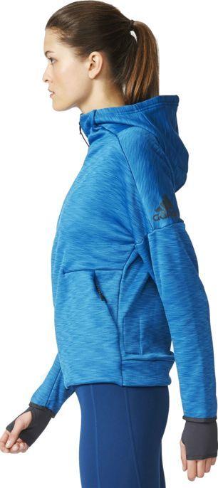 Adidas Bluza damska Zne Heat Hoody niebieska r. XS (S94566) ID produktu: 5755138