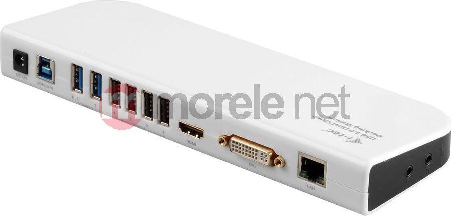 i tec usb 3.0 dual docking station + usb charging port  I-TEC USB 3.0 Dual Docking Station Advance DVI/HDMI/USB Charging ...
