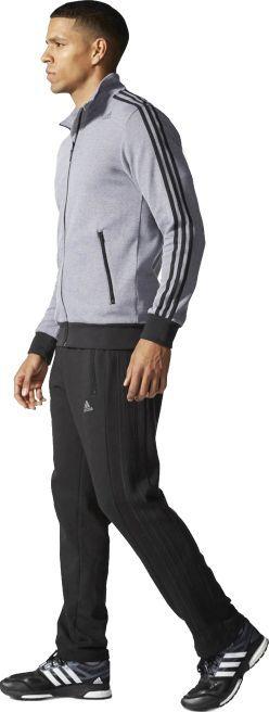 najlepszy wybór ekskluzywne oferty fantastyczne oszczędności Adidas Komplet dresowy męski Ts Interlock czarno-szary r. XS/S (S22114) ID  produktu: 5761753