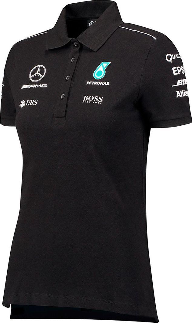 fecbbcab9a736 Mercedes AMG Petronas F1 Team Polo damskie czarne Mercedes AMG Petronas F1  Team 2017 M w Sklep-presto.pl