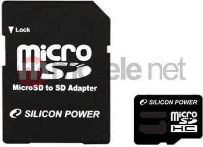 Karta Silicon Power MicroSDHC 16 GB Class 4  (SP016GBSTH004V10SP) 1