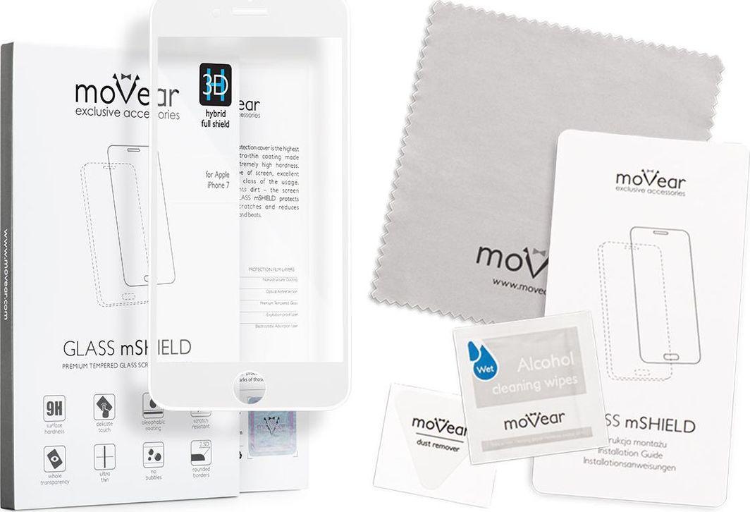 moVear Szkło hartowane 9H iPhone 8 Plus moVear 3D HYBRID Cały Ekran Standard 1